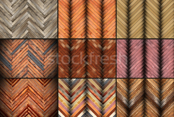 illustration with parquet patterns collection Stock photo © taviphoto