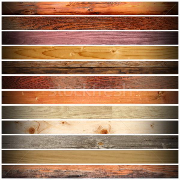 Stockfoto: Collectie · vintage · groot · houten · ontwerp · witte