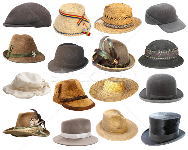 large collection of hats over white Stock photo © taviphoto