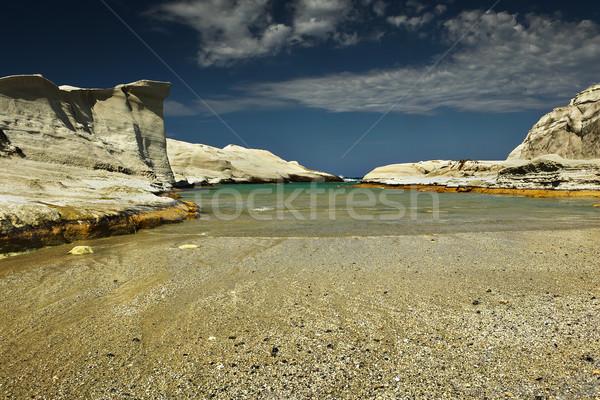 beautiful beach of Sarakiniko, Milos Stock photo © taviphoto