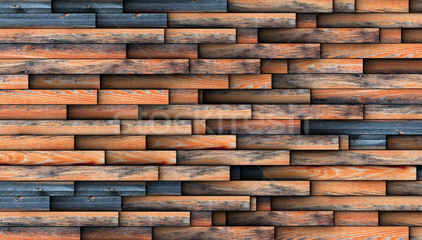 interesting design for wooden wall Stock photo © taviphoto