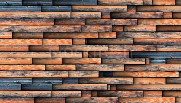 интересный дизайна стены повторяющихся древесины Сток-фото © taviphoto