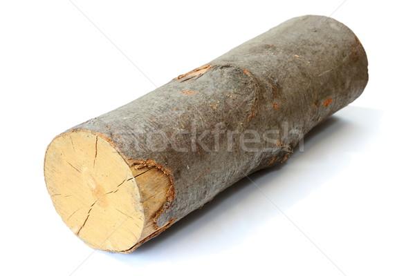 кусок дрова древесины тень белый огня Сток-фото © taviphoto