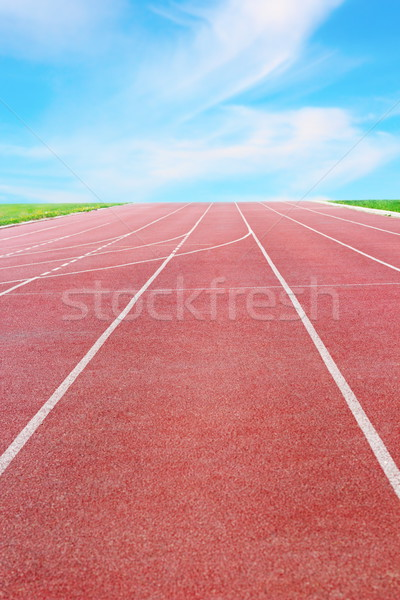 detail of a running track Stock photo © taviphoto