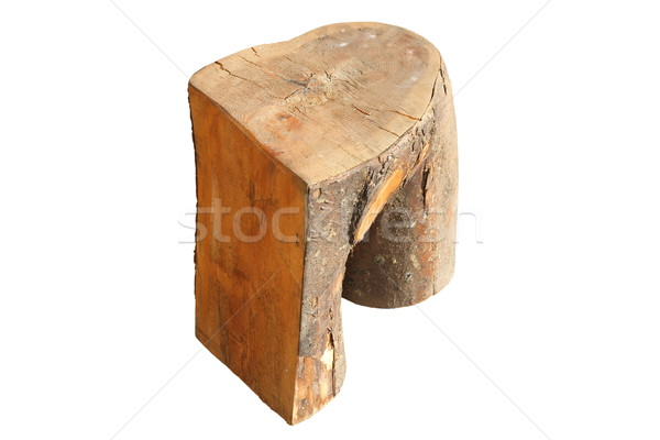 interesting wooden trunk carved seat Stock photo © taviphoto