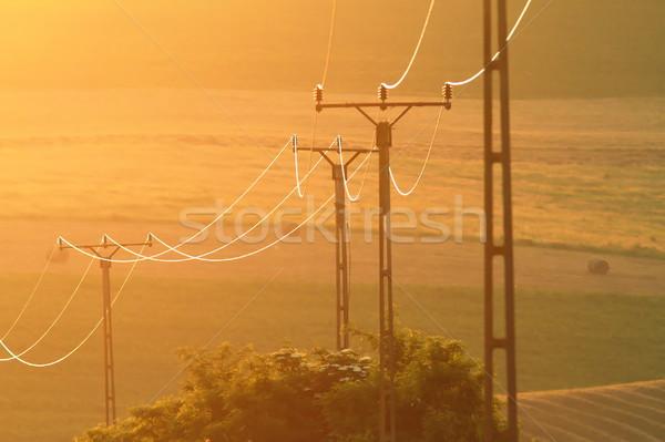 Elektrische zonsondergang mooie kleuren zon achtergrond Stockfoto © taviphoto