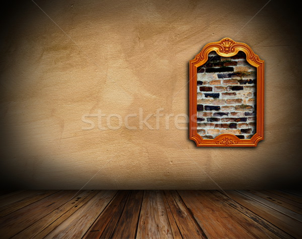 interior background with art frame Stock photo © taviphoto