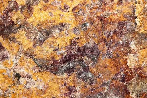 カラフル テクスチャ 古い 地下 石の壁 パターン ストックフォト © taviphoto