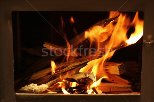 warm flames Stock photo © taviphoto