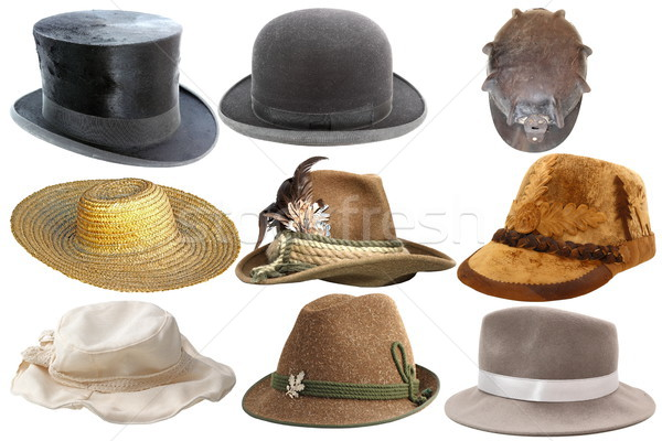 collection of isolated hats Stock photo © taviphoto
