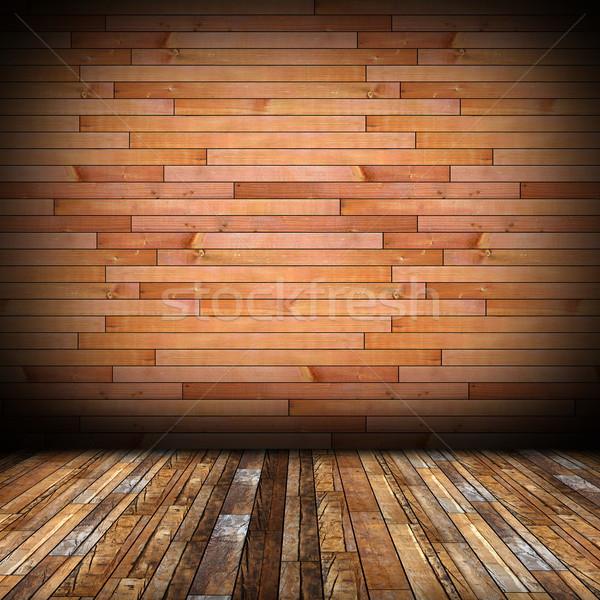Belső fa befejezés háttér padló fal Stock fotó © taviphoto