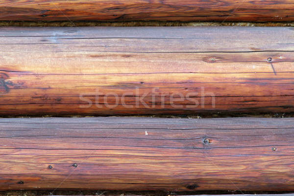 exterior beams on wooden lodge Stock photo © taviphoto