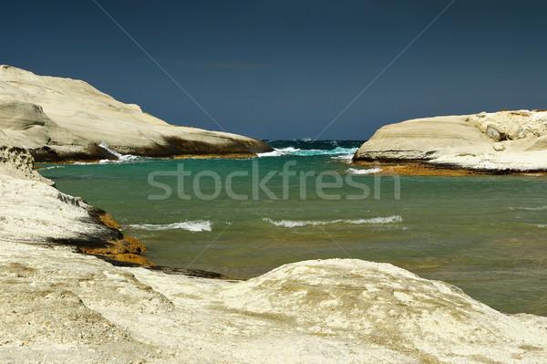 beautiful beach in Milos island Stock photo © taviphoto