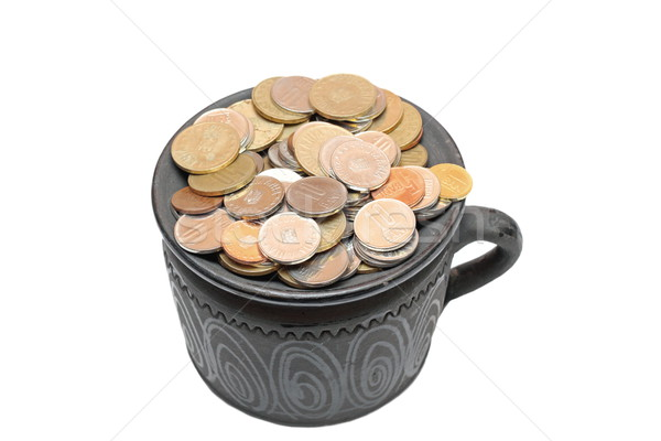 ceramic pot filled with coins Stock photo © taviphoto