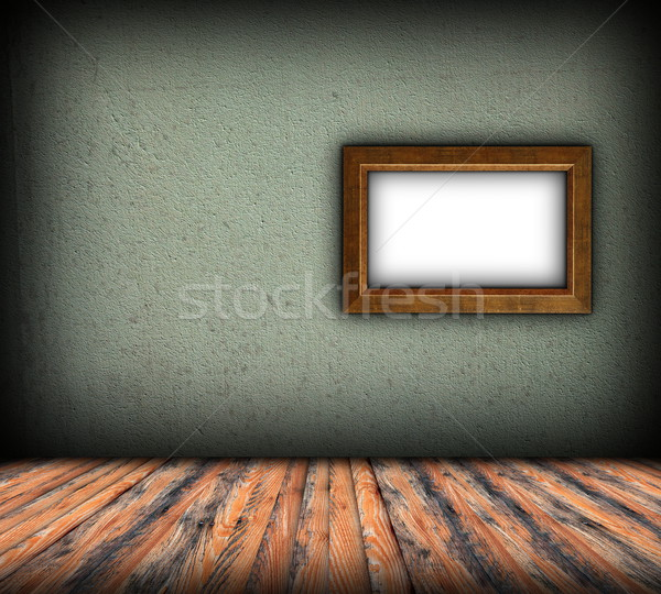 minimalist indoor backdrop with frame Stock photo © taviphoto