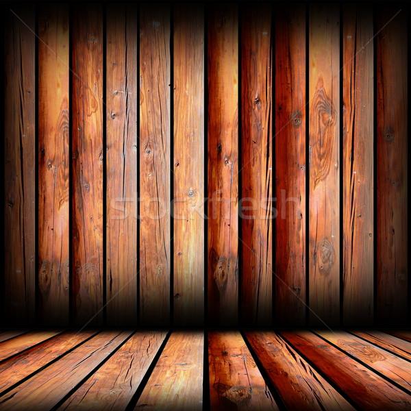 reddish boards on indoor backdrop Stock photo © taviphoto