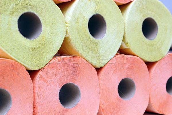 Carta igienica giallo rosa sfondo Foto d'archivio © taviphoto