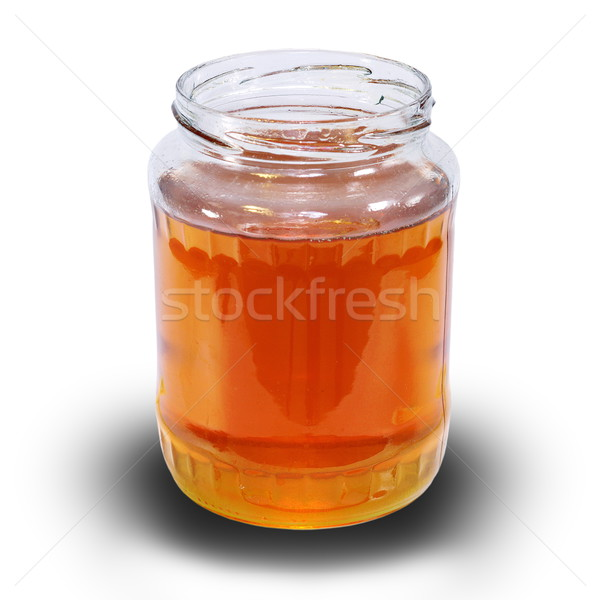 honey jar over white with shadow Stock photo © taviphoto