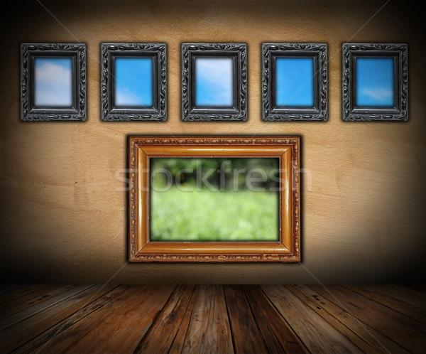 art indoor backdrop Stock photo © taviphoto