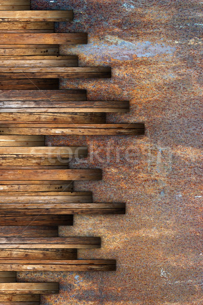 textured wooden boards montage Stock photo © taviphoto