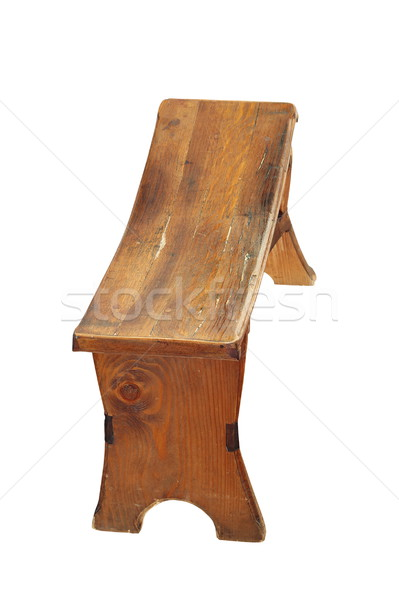 isolated wooden traditional small seat Stock photo © taviphoto