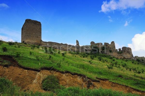 Middeleeuwse ruines gebouw bouw landschap Stockfoto © taviphoto