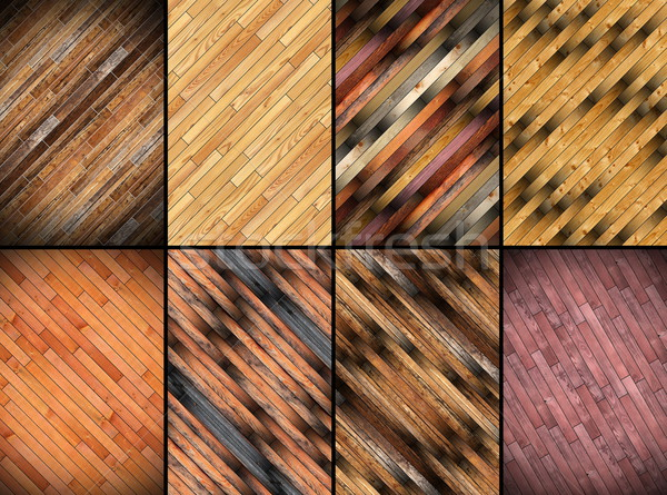collage of wooden parquet patterns Stock photo © taviphoto