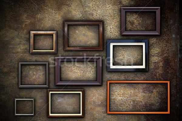 Photos cadres résumé rouillée mur prêt Photo stock © taviphoto