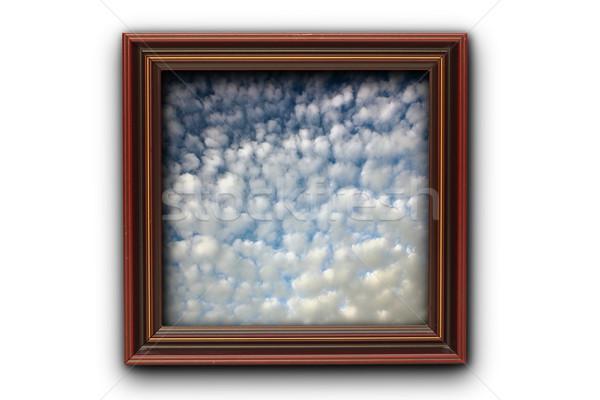 image of beautiful sky on photo wood frame Stock photo © taviphoto