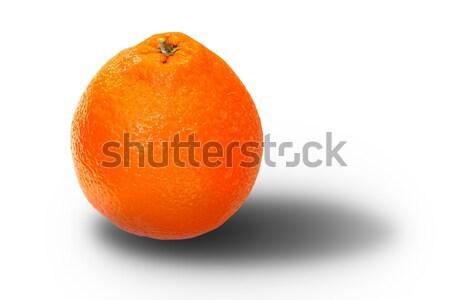 orange fruit over white with shadow Stock photo © taviphoto