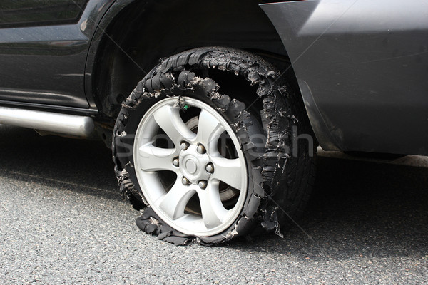 exploded truck tire  Stock photo © taviphoto