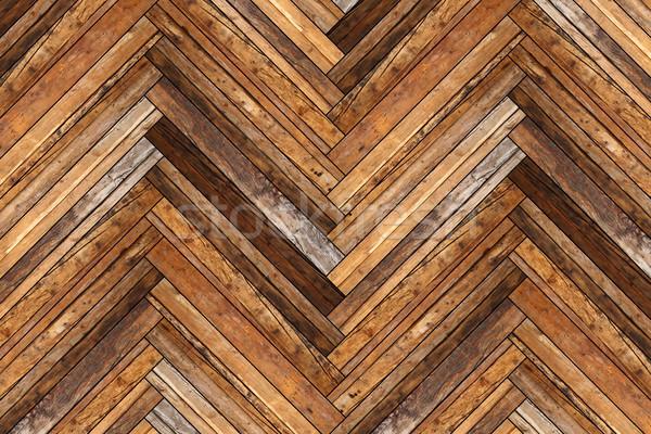 Gyönyörű antik padló terv átló fa Stock fotó © taviphoto