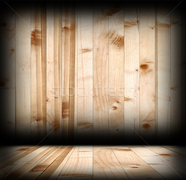 Interior enfeitar madeira fundo cabine Foto stock © taviphoto