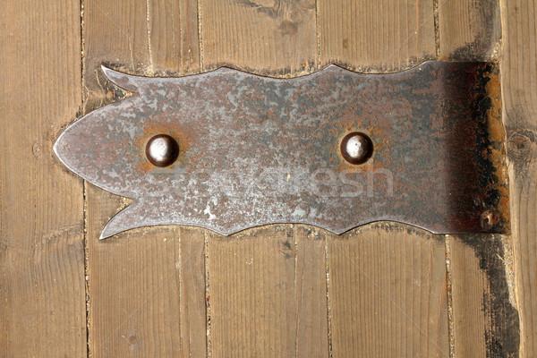 Eski madeni kapı menteşe detay kale Stok fotoğraf © taviphoto