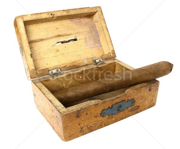Szivar öreg doboz nagy kubai fából készült Stock fotó © taviphoto