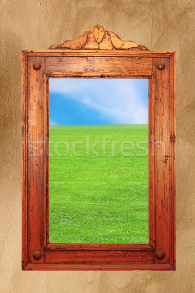 木材 フレーム のどかな シーン 壁 古代 ストックフォト © taviphoto