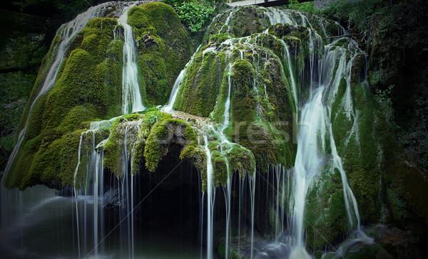 美しい カスケード 1 ヨーロッパ 水 木材 ストックフォト © taviphoto