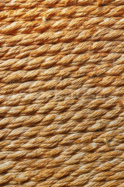 çuval bezi halat doku kahverengi arka plan bağbozumu Stok fotoğraf © taviphoto