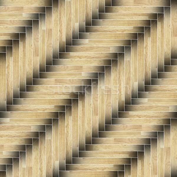 textured of installed parquet floor Stock photo © taviphoto