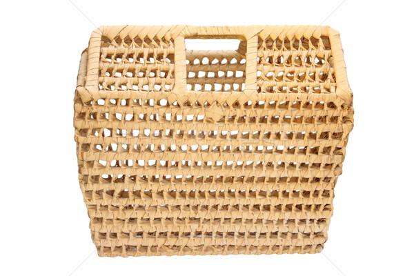 изолированный плетеный ручной работы сумку белый дизайна Сток-фото © taviphoto