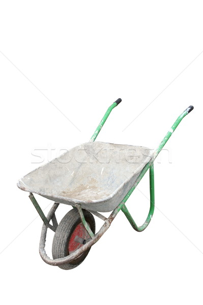 isolated old dirty wheelbarrow Stock photo © taviphoto