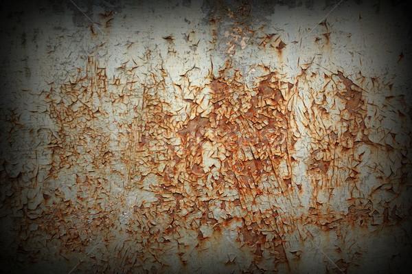 Eski paslı metal doku madeni tahta doku Stok fotoğraf © taviphoto