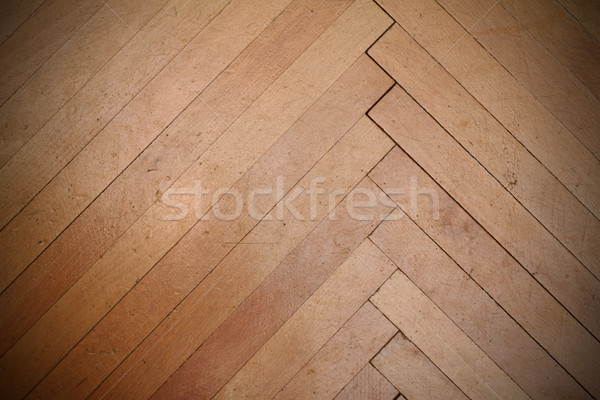 real scratched old parquet Stock photo © taviphoto