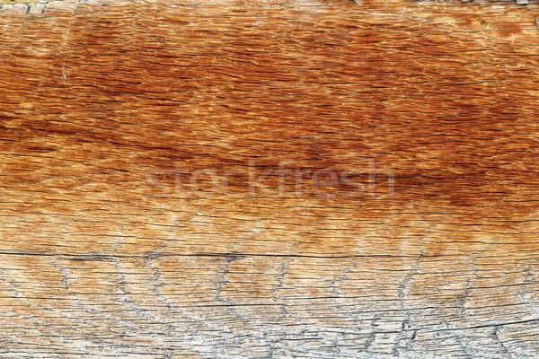 Stock photo: old reddish wooden plank texture