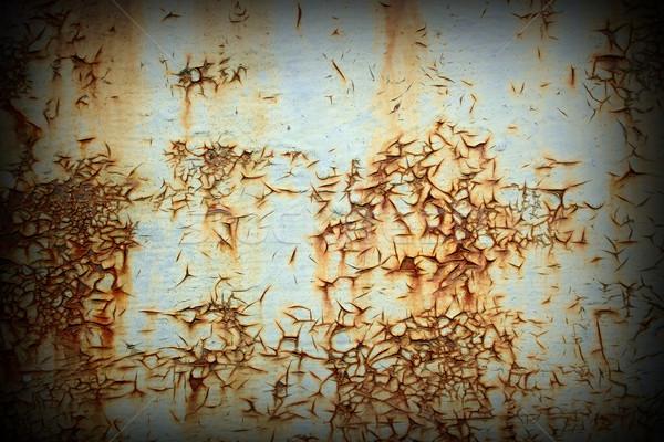 Arrugginito superficie metallica metal frame spazio piatto Foto d'archivio © taviphoto