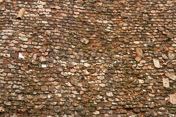 Stock photo: texture of old damaged roof