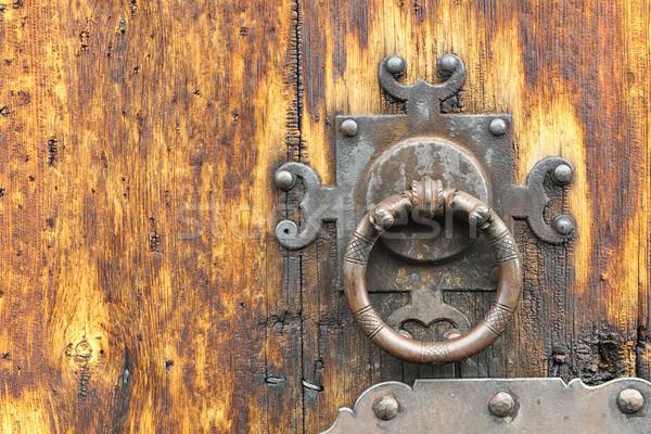 詳細 古い 木製 ドア メタリック 木材 ストックフォト © taviphoto