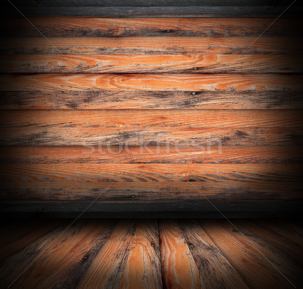 abandoned interior backdrop of a lodge Stock photo © taviphoto