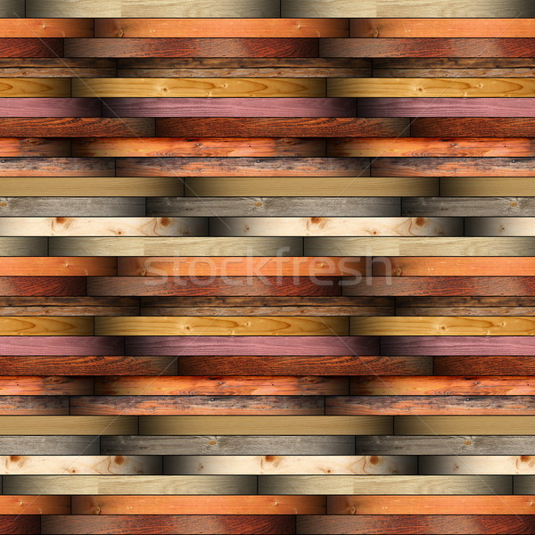 collection of installed wood planks floor material Stock photo © taviphoto