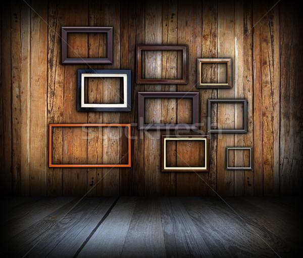 Interesante arte fondo vacío marcos Foto stock © taviphoto